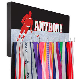 Hockey Multi-Hook Medal/Hat Display Personalized Hockey Player