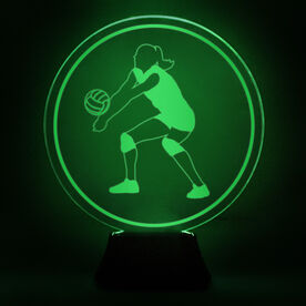 Volleyball Acrylic LED Lamp Volleyball Girl