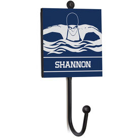 Swimming Medal Hook - Female Swimmer With Name