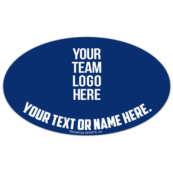 Guys LAX Oval Car Magnet Your Logo