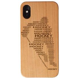 Hockey Engraved Wood IPhone® Case - Hockey Words