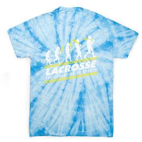 Guys Lacrosse Short Sleeve T-Shirt - Evolution of Lacrosse Tie Dye