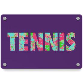 Tennis Metal Wall Art Panel - Floral Tennis