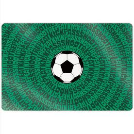 "Soccer 18"" X 12"" Aluminum Room Sign - Mantra Spiral"