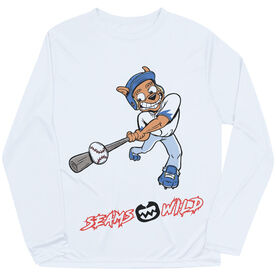 Seams Wild Baseball Long Sleeve Tech Tee - Coco Loco