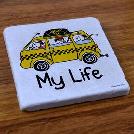My Life Hockey Taxi - Stone Coaster