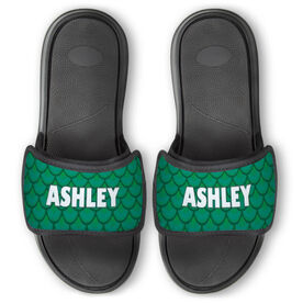 Personalized For You Repwell® Slide Sandals - Mermaid Scales