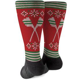 Crew Printed Mid-Calf Socks - Christmas Knit
