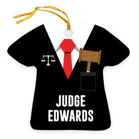 Personalized Ornament - Judge Robes Shirt and Tie