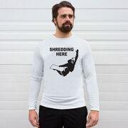 Snowboarding Long Sleeve Performance Tee - Shredding Here