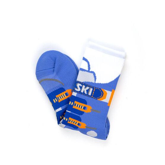 Skiing Woven Mid-Calf Socks - Ski Boot