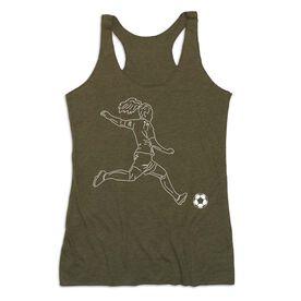 Soccer Women's Everyday Tank Top - Soccer Girl Player Sketch