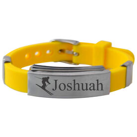 Skiing Silicone Bracelet - Personalized Skier
