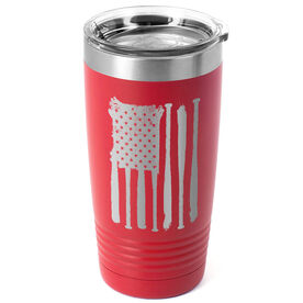 Baseball 20 oz. Double Insulated Tumbler - Flag