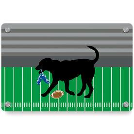 Football Metal Wall Art Panel - Flash The Football Dog