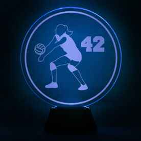 Volleyball Acrylic LED Lamp Volleyball Girl With Number