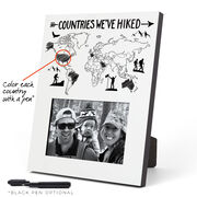 Photo Frame - Countries We've Hiked Outline