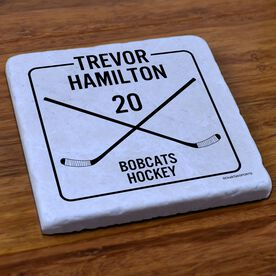 Hockey Stone Coaster Personalized Player Box