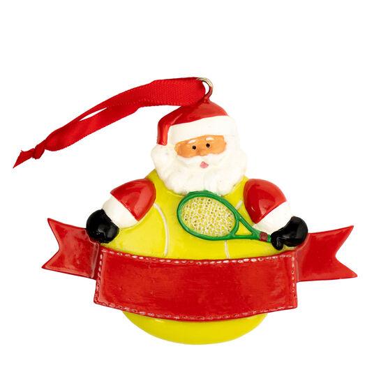 Tennis Ornament - Tennis Player Santa