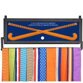 AthletesWALL Medal Display - Personalized Text With Crossed Sticks