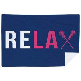 Girls Lacrosse Premium Blanket - Relax