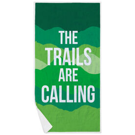Running Premium Beach Towel - The Trails Are Calling