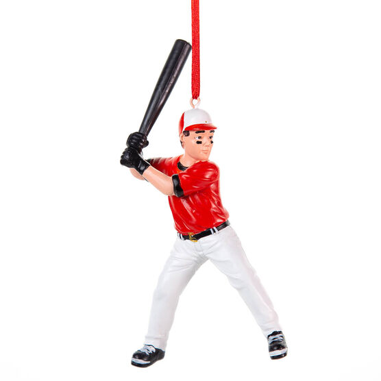 Baseball Ornament - Baseball Player