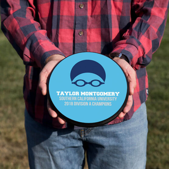 Swimming Circle Plaque - Team Goggles And Cap