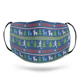 Running Face Mask - Christmas Sweater