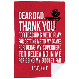 Basketball Premium Blanket - Dear Dad