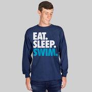 Swimming T-Shirt Long Sleeve Eat. Sleep. Swim.