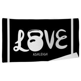 Cross Training Beach Towel Love Kettlebells