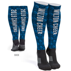 Cheerleading Printed Knee-High Socks - Cheer Team Name