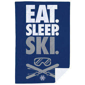 Skiing Premium Blanket - Eat. Sleep. Ski. Vertical