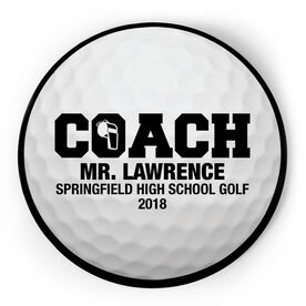 Golf Circle Plaque - Coach With 3 Lines