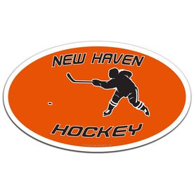 Hockey Oval Car Magnet Personalized Shooting