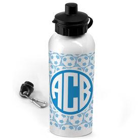 Soccer 20 oz. Stainless Steel Water Bottle Monogram with Soccer Ball Pattern