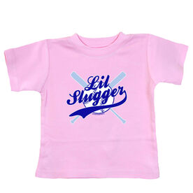 Softball Baby T-Shirt Lil Slugger Boy
