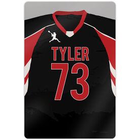 "Lacrosse Aluminum Room Sign (18""x12"") Personalized Lacrosse Jersey"