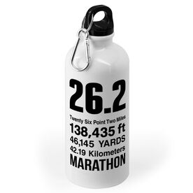 Running 20 oz. Stainless Steel Water Bottle - 26.2 Math Miles