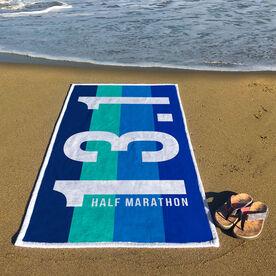 Running Premium Beach Towel - 13.1 Vertical