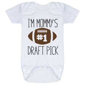 Football Baby One-Piece - I'm Mommy's #1 Draft Pick