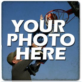 "Custom Basketball Photo - 4""x4"" - Stone Coaster"