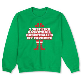 Basketball Crew Neck Sweatshirt (Special Edition) - Basketball's My Favorite