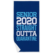 Premium Beach Towel - Senior 2020 Straight Outta Quarantine