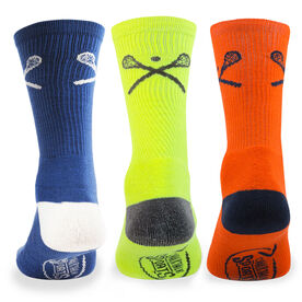 Lacrosse Woven Mid-Calf Sock Set - Crossed Sticks Bright