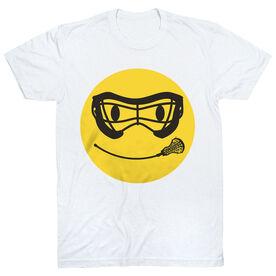Girls Lacrosse T-Shirt Short Sleeve Smiley Face