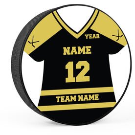 Personalized Hockey Jersey Hockey Puck