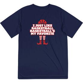 Basketball Short Sleeve Tech Tee - Basketball's My Favorite
