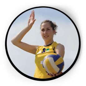 Volleyball Circle Plaque - Custom Photo